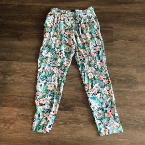 Zara Floral Print Ankle Pants